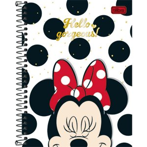 Caderno Minnie Colegial 8 Matérias 160 Folhas Tilibra