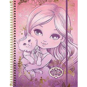 Caderno Jolie Top Digi Universitário 5 Matérias 160 Folhas Tilibra