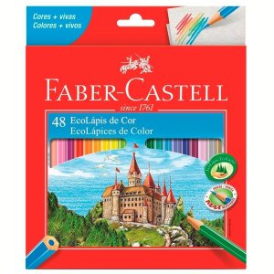 Lápis de Cor Faber-Castell 48 Cores Sextavado