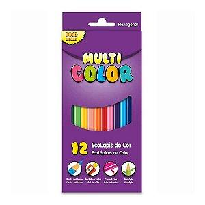 Lápis de Cor Multi Color 12 Cores Sextavado