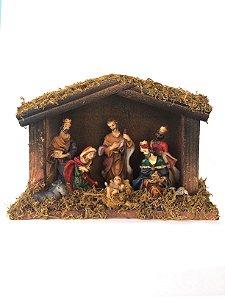 Presépio Resina 8 Peças Com Estábulo Master Christmas