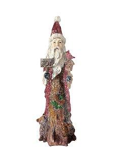 Papai Noel Nevado 26cm Resina Grillo