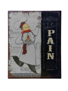 Placa de Metal Decorativa Le Pain Xilya