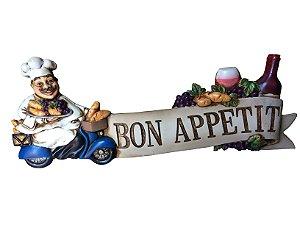 Placa Decorativa Bon Appetit Resina La Verne