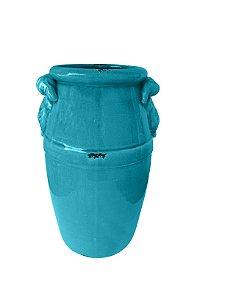 Vaso Cerâmica Azul Turquesa Xilya