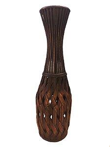 Vaso Decorativo 64cm Bambu Xilya