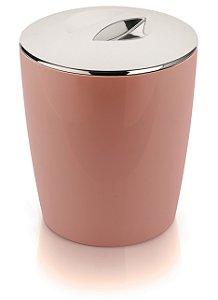 Lixeira Ou Rosa Cromo Vitra 5 Litros Martiplast