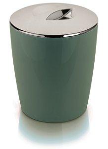 Lixeira Martiplast Verde Cromo Vitra 5 Litros