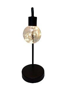 Lâmpada Decorativa de Mesa a Bateria
