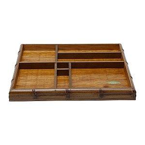 Organizador de Escritório de Bambu 39x34 Woodart