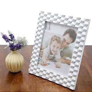 Porta Retrato Branco 20x25cm com Relevo Prestige Collection