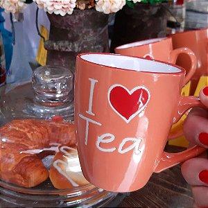 Caneca de Chá I Love Tea Laranja 200ml