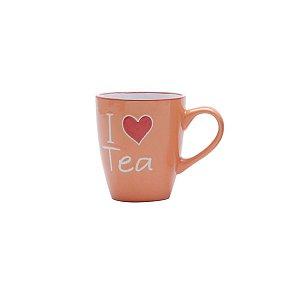 Caneca de Chá I Love Tea Laranja 200ml Bon Gourmet