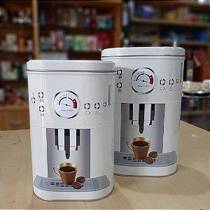 Jogo de Latas Porta Condimentos Branca Coffee 2 Peças