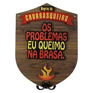 Cabideiro de Madeira Regras do Churrasqueiro Os Problemas