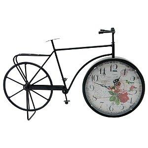 Relógio de Mesa Bicicleta Preta