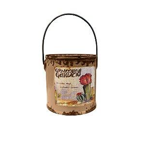 Vaso Cerâmica Para Cactos Balde Marrom The Home