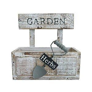 Cachepot de Madeira Retangular Garden com Pá