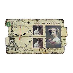 Porta Retrato com Relógio Paris