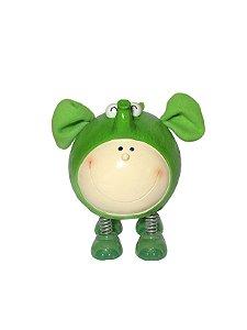 Cofrinho Bichinho Verde com Molas de Resina