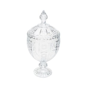 Bomboniere de Cristal Wolff Belle com Pé 32 cm