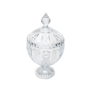 Bomboniere de Cristal Wolff Belle com Pé 28 cm