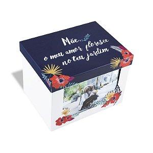 Caixa de Metal Mãe Floral 14x20cm Geguton
