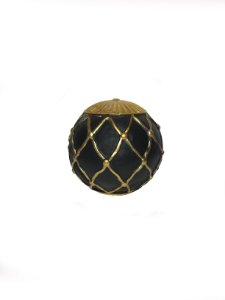Esferas Decorativas 3 Peças Preto com Dourado Concepts Life