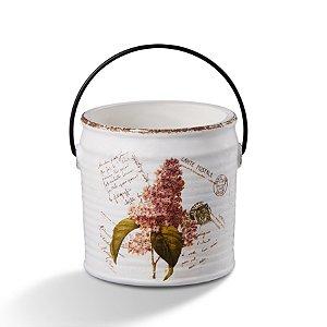 Cahepot de Cerâmica Flor Rosa Escuro 18cm com Alça Bencafil