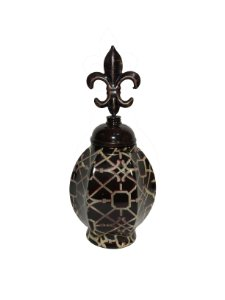 Vaso Decorativo Marrom 26cm Espressione