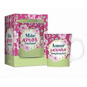 Caneca para Mãe de Porcelana Amor Eterno 280ml Brasfoot