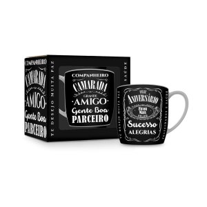 Caneca de Aniversário Jack Daniels 360ml Brasfoot