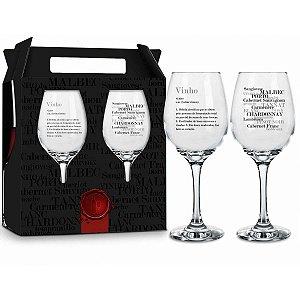 Conjunto Taças de Vinho Significado do Vinho 385ml Brasfoot