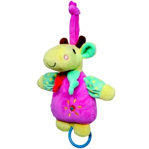 Girafa de Pelúcia Musical Safari Buba