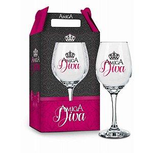 Taça de Vinho Amiga Diva 385ml Brasfoot