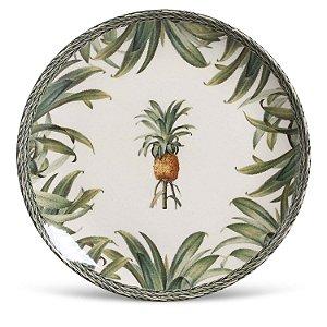 Conjunto de Pratos Rasos Porto Brasil Pineapple Green 6 Peças
