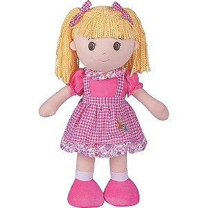 Boneca de Pano Buba Marli Rosa