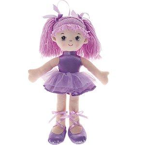 Boneca de Pano Buba Bailarina Glitter Roxa