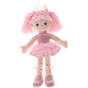 Boneca de Pano Buba Bailarina Glitter Rosa