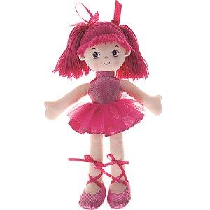 Boneca de Pano Buba Bailarina Glitter Pink