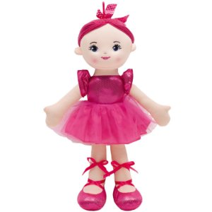 Boneca de Pano Buba Bailarina Glamour Rosa