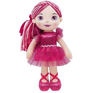Boneca de Pano Buba Bailarina Fashion Rosa