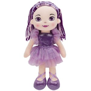 Boneca de Pano Buba Bailarina Fashion Roxa