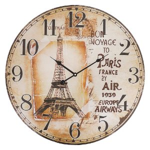 Relógio de Parede Grande Redondo Bon Voyage 57cm The Home