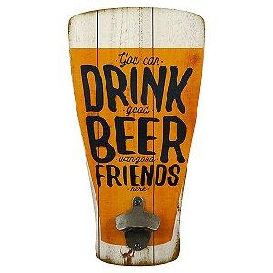Placa Abridor de Garrafas Copo de Cerveja
