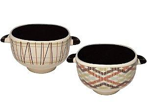 Conjunto de Tigelas Para Sopa Creme de Cerâmica Yazi