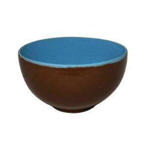 Conjunto de Tigelas Para Sopa de Cerâmica Marrom 3 Peças