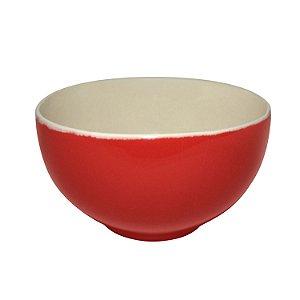 Conjunto de Tigelas Para Sopa de Cerâmica Vermelha 3 Peças