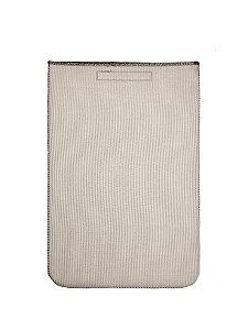 Case Para Notebook 14 Listrado Bege Kit
