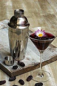 Jogo de Taças Martini Cristal Bohemia Titânio 280ml 6 peças